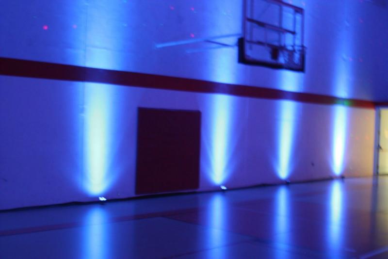 School Gym Uplighting